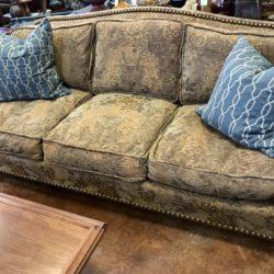 Nailhead Tapestry Sofa