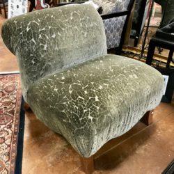 Silk & Velvet Accent Chair