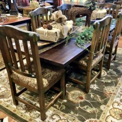 Sundance Rustic Wood Dining Table with Reclaimed Wood Center