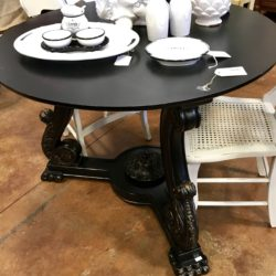 Black Round Entry Table