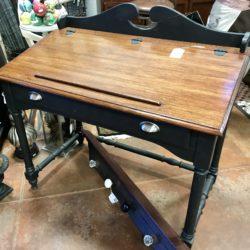 Painted Oak Lift Top Desk
