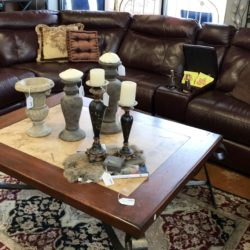 Leather Sectional with 3 Recliners