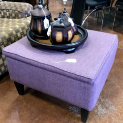 Purple Ottoman with Storage