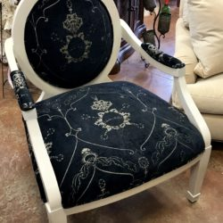 Black & Cream Accent Chair