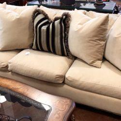 Williams Sonoma Velvet Sofa