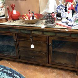 Wood & Glass TV Cabinet