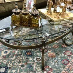 Thomasville Glass Top Coffee Table