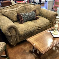 Nailhead Tapestry Love Seat