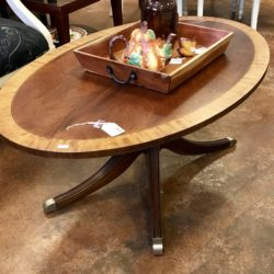Ethan Allen Inlaid Wood Coffee Table