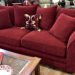 Wine Colored Queen Sofa Bed