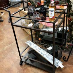 Metal & Glass Bar Cart