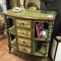 Green Toile Entry Table