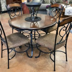 Wood & Wrought Iron Dining Table