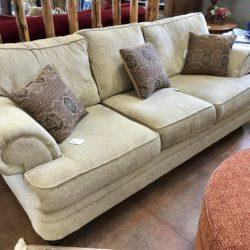 Beige Chenille Sofa