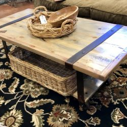 Custom Rustic Coffee Table on Wheels