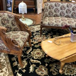 Antique Carved Settee & Chair