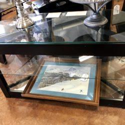 Modern Glass Top TV Table
