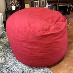 Red Pouff Chair