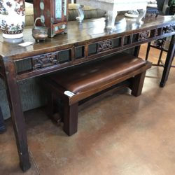 Vintage Asian Style Carved Console Table