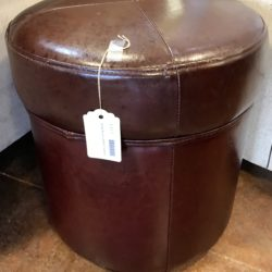 Faux Leather Stool