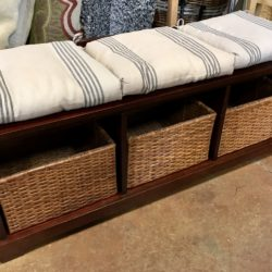 Pottery Barn Storage Bench & Wall Unit with Baskets