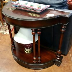 Cherry Wood Entry Table with Storage