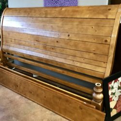 Pottery Barn Rustic Pine King Bed Frame