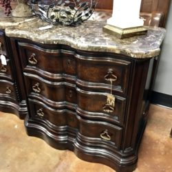Marble Top Nightstand / Chest of Drawers (2 Available)