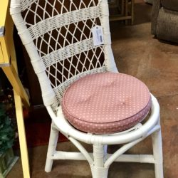 Wicker Vanity Chair with Cushion