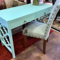 Turquoise Writing Desk