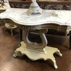 Vintage Marble Top Sofa / Entry Table (matching side tables available)