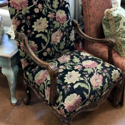 Floral Formal Accent Chair