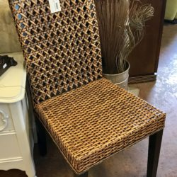 Set of 4 Woven Dining Chairs