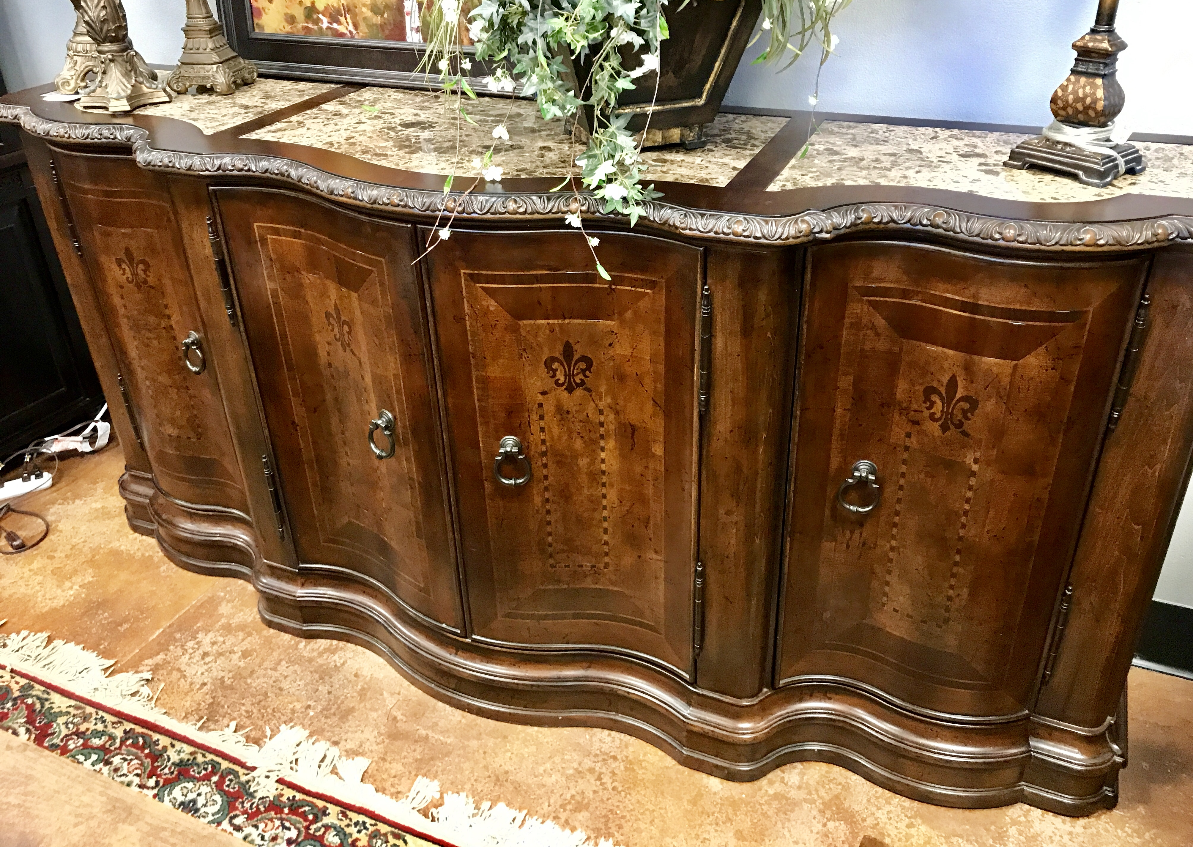Gorgeous Marble Top Buffet