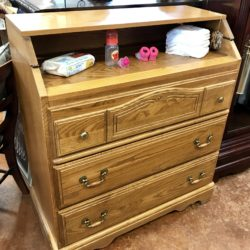 Oak Changing Table