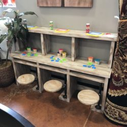 Kids Industrial Style Craft Table