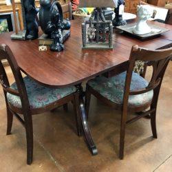 Vintage Mahogany Drop Leaf Table & 4 Chairs