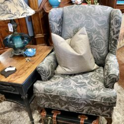 Leaf Design Wingback Chair