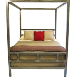 Boltz Cal King Steel Canopy Bed - Brand New
