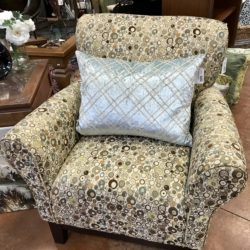 Modern Accent Chair with Geometric Circle Design (2 Available)