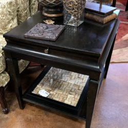 Black End Table with Pull Out Writer