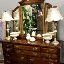 Vintage Low Boy Dresser with Mirror