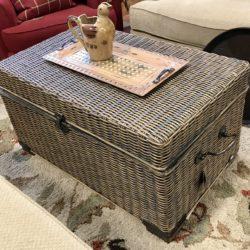 Basket Weave Trunk / Ottoman