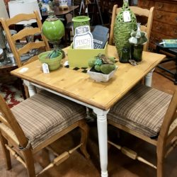 Carol's Design 4 Rush Seat Chairs (table sold)