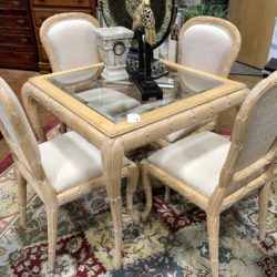 Blonde Wood Game Table & 4 Chairs