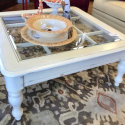 Shabby Chic Glass Inset Coffee Table