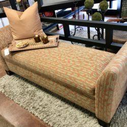 Leaf Design Upholstered Bench