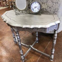 Silver Painted Side Table