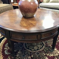 Round Coffee Table on Casters