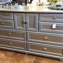 Silver & Champagne Painted Dresser